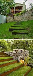 DIY Ideas to Make Garden Stairs and Steps _gardendesign _gardensteps