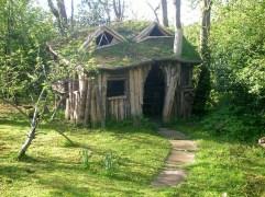 Delightful homemade English playhouse. I soooo want one_