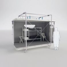 "Designnobis' ""Tentative"" Provides Compact_ Individual Living Spaces for Disaster Victims (2)"