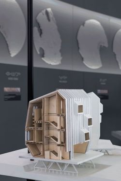 Detail of proposal with arctic balconies_ Iqaluit_ Arctic Adaptations_ 2014