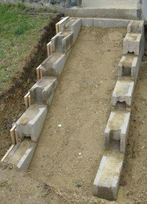 Eine Treppe aus Stahlbeton _ Gartenbau selber gemacht