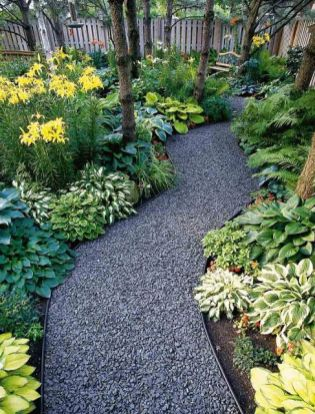 Flagstone Path Ideas _ The concrete (or perhaps bluestone) rectangles on this path give it a ...