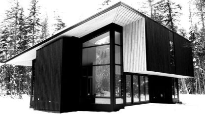 Form and Forest recently completed their first prefab_ a Pioneer cabin in Golden_ British Columbia w.