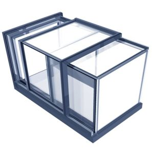 Freestanding Box _skylight _ The design is elegant and modern and contains minimal framework to max.