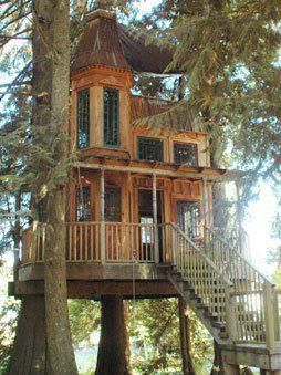 I would love to spend time in this beautiful tree house and let the rest of the world go by.