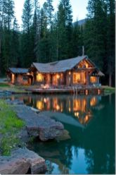 If I ever have a log cabin in the woods there has to be a lake… if there is no lake_ I wouldn't be l. I mean w