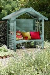 Just tell me how would you feel if this gazebo bench made with wooden pallets is installed inside yo. _Garden Gazebo Ideas_