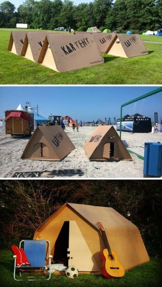 KarTent is a cardboard tent designed for music festivals