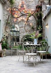 Mirrorsfor small spaces. It's a thing_ we promise_ Expand your outdoor area with a little illusionary fix. Bonus points if it looks like an actual window.