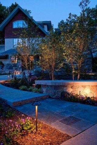 Modern Craftsman Lighted Path _ Front Yard Landscaping Ideas 2019 _homeoutdoor _outdoordecor _landsc