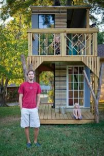 My daughter wants a tree house one day_ but this one is crazy big_ 50 Kids Treehouse Designs