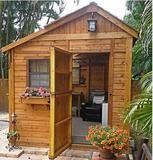 Outdoor Living Today _ 8 x 8 Sunshed Garden Shed with Dutch Door _ Outdoor Living Today