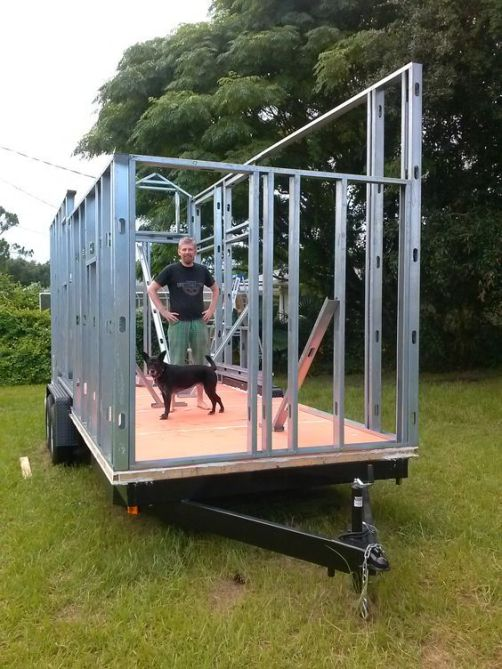 Pros and Cons of using steel framing in a tiny house on wheels. By Erin & Rob. (1)