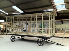 Shepherds Hut Self Build_ Flat Pack with Chassis_Base_Walls & Roof(shepherd hut)