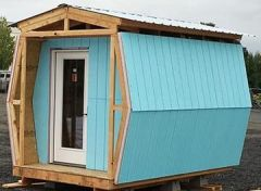 Sleeping Pod being constructed for houseless veterans in Clackamas County Fall 2017.