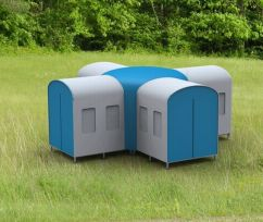 Small Shelter offers instant refuge during emergencies