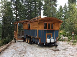 Student Vardo __ Vardo_style tiny house built for college student with outdoor living space. _ pinned by haw_creek.com