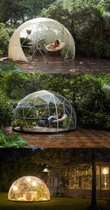 The Garden Igloo is a transparent canopy that allows you to cherish the scenery all while being shie.
