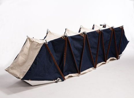 The Melina quickly transforms from a backpack into a personal sized sleeping tent. Urban public space is normally used only for walking and movement. Shat