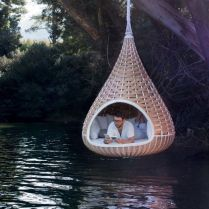This is such a cool concept. I just dont see how you would get in it without getting wet or hurt. Either way_ I wa