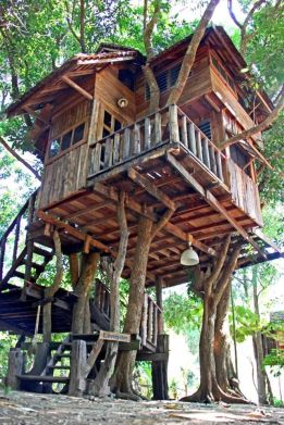 Treehouse at the Rabeang Pasak Chiangmai Treehouse Resort in northern Thailand.