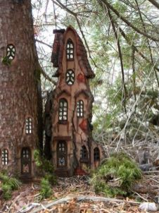 Waiting for winter by ForestDwellerHouses on DeviantArt _ a tiny fairy tail house in the woods_ a wh