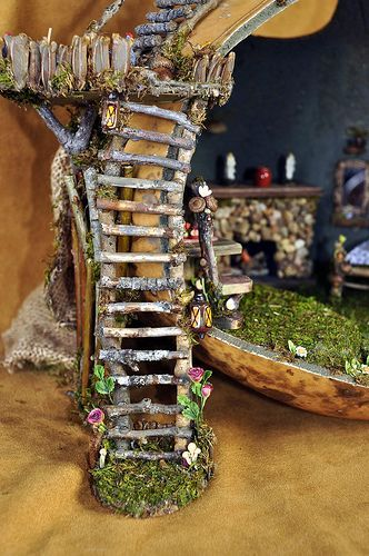 We design and create fairy houses_ dollhouses_ fairy furniture and dollhouse miniatures for all vari. All products