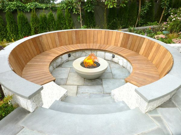 Amazing Backyard Fire Pit Ideas with Comfy Seating Area Design