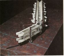 "fabriciomora_ "" Berlin Wall Housing Mega_structure proposal from the 80s ""if in some theoretical fu. By Morphosis """