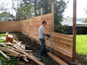 horizontal fence _ only do this for if you need a fence to be tappered heights (i.e. getting shorter and shorter)