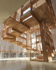 interior stair shelves _ stairs & shelves