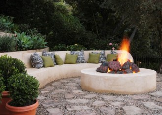cement-arched-fire-pit-seating-idea