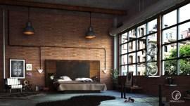 piping-iron-industrial-brick-wall-bedroom