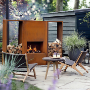 Weathering-Steel-Planed-Outdoor-Fireplace