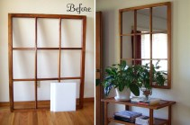 Before-and-after-Window-Frame-Turned-into-a-mirrored-entryway-decor
