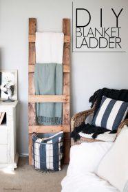 Blanket-ladder-storage