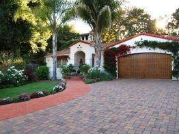 Brick-driveway-Spanish-house
