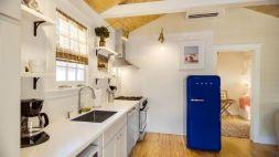Cottage-Style-Home-Blue-smeg-Fridge