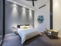 Grey-wall-bedroom-and-carpet-on-the-floor