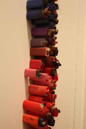 Lighters-of-many-sizes-wall-art
