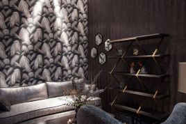 Living-room-behind-sofa-wall-floral-pattern-wallpaper