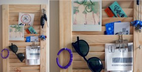 Mail-organizer-from-an-old-shutter-for-entryway