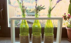 Rope-Wine-Bottles-flower-Vase