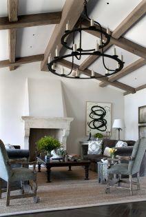 Weaver Gaviota residence living room fireplace seating view