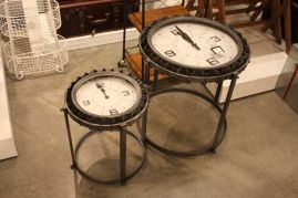 Three-hands-clock-side-tables