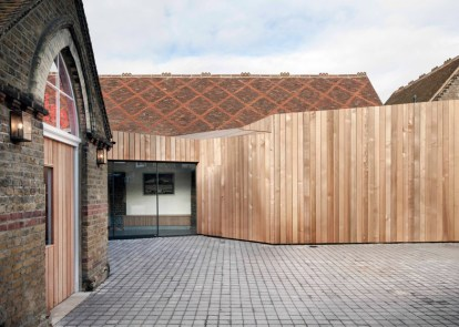 Victorian-school-house-into-cinema-for-an-English-town-wood