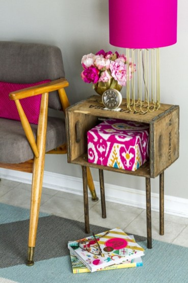 Wooden-crate-side-table