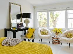 yellow-bedroom-2016-white-bedroom-with-yellow-and-black-accents-this-eclectic-bedroom-gets