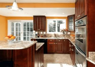Tangerine-Touch-kitchen-paint-ideas