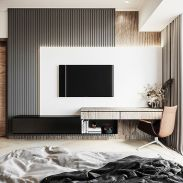 a-cool-and-modern-black-and-light-stained-floating-wall-unit-with-open-and-closed-storage-is-a-veyr-fresh-idea